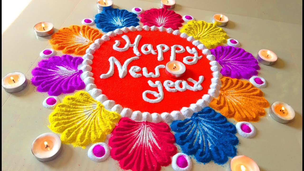 Happy New Year Rangoli 5