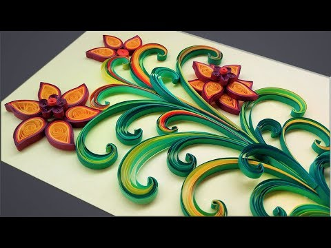 paper-quilling-|-how-to-make-beautiful-flower-design-birthday-greeting-card-|-paper-quilling-art