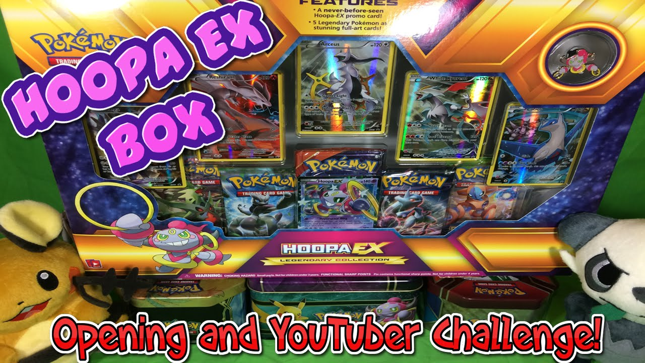 Pokemon Booster Challenge & Hoopa EX Legendary Collection ...