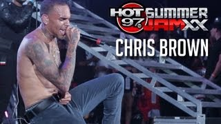 """CHRIS BROWN """"Fine China"""" Live at Hot97 Summer Jam XX"""