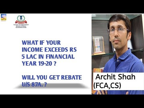 Amendment to section 87A rebate of Income Tax