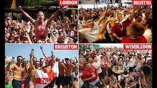 Jubilant fans celebrate England's goals in pubs around the country - 247 news