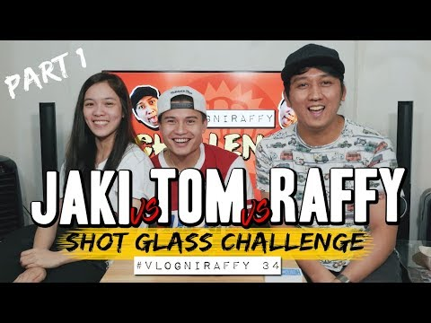 SHOT GLASS CHALLENGE with ATE GIRL JAKI & HASHTAG TOM (PART 1 OF 2) #VlogNiRaffy 34