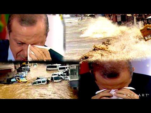 ՀՐԱՏԱՊ․ Ավերիչ ջրհեղեղ Թուրքիայում․ Էրդողանը լացել է ուղիղ եթերում․ Սարսափելի կադրեր