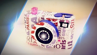 quick DIY How To Make simple and easy Origami Paper Camera /Basic origami paper camera making craft
