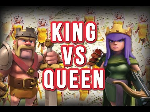 King Vs Queen Hero Healer Raid Clash Of Clans Youtube