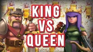 KING vs QUEEN | Hero Healer Raid | Clash of Clans