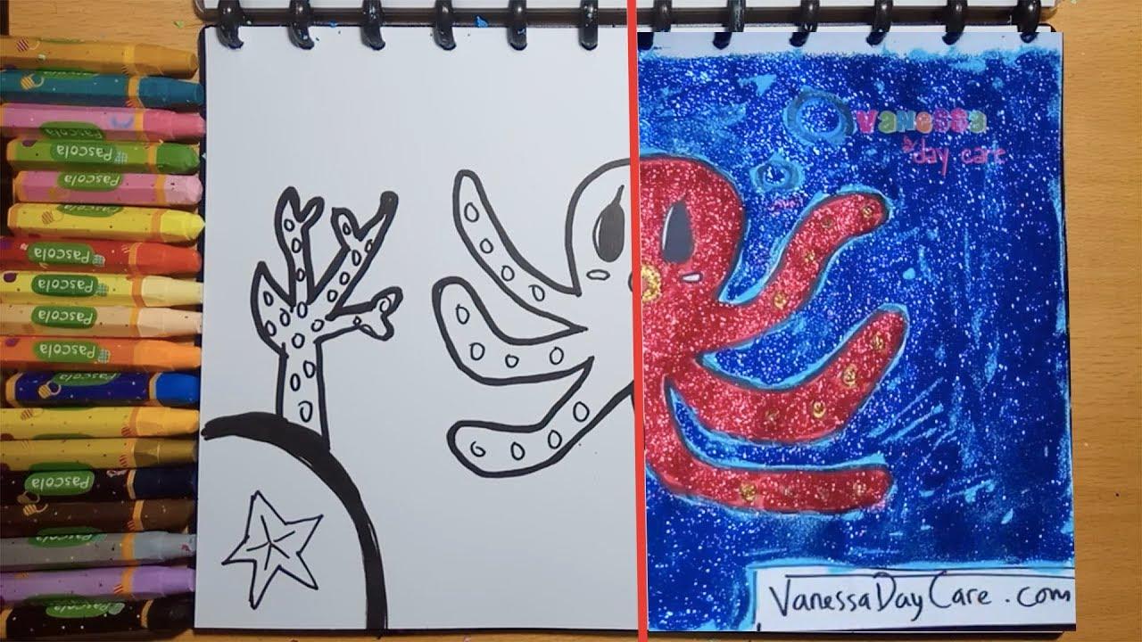 Gliter Gurita Belajar Menggambar Dan Mewarnai Untuk Anak