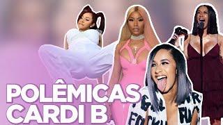 TOP 10 POLÊMICAS DE CARDI B: TRETA COM NICKI MINAJ, VIDA DE STRIPPER, HOMOFOBIA... | Foquinha