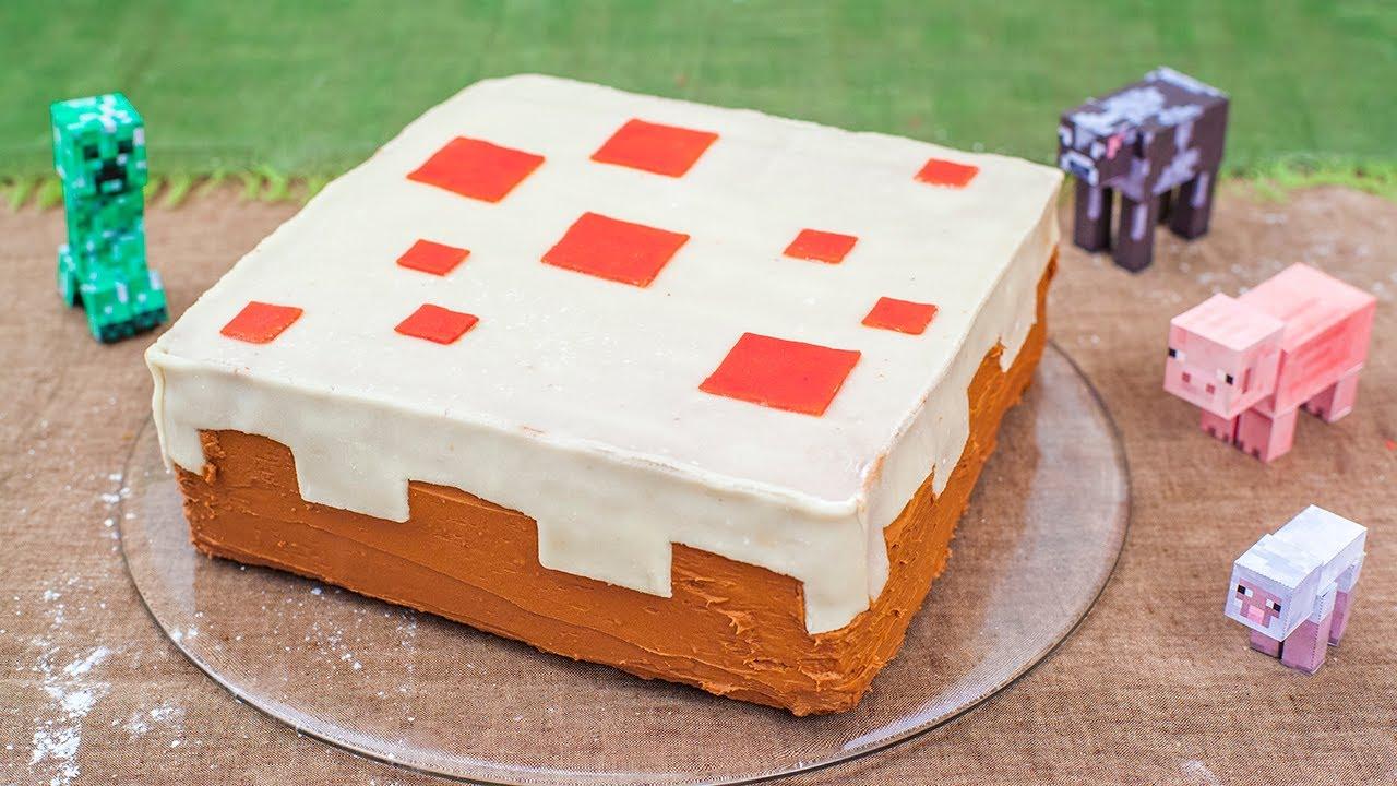 Rezept Minecraft Kuchen Fur Den Kindergeburtstag Youtube