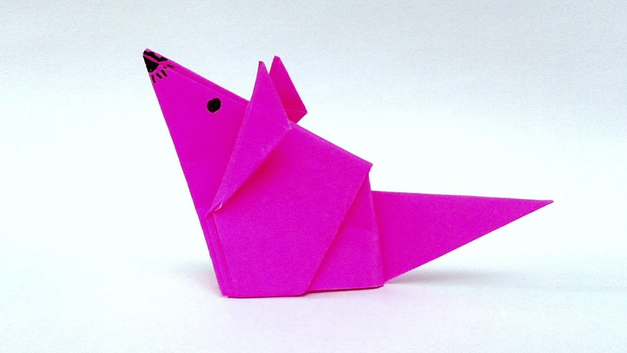 How to make the origami mouse origami rat tutorial origami rat how to make the origami mouse origami rat tutorial origami ratmouse easy tutorial jeuxipadfo Images
