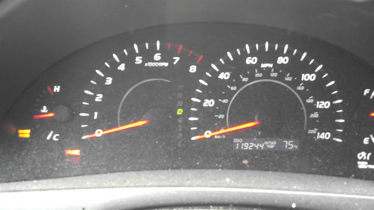 2007 Toyota Camry Brake Light And Abs Gauges Crazy