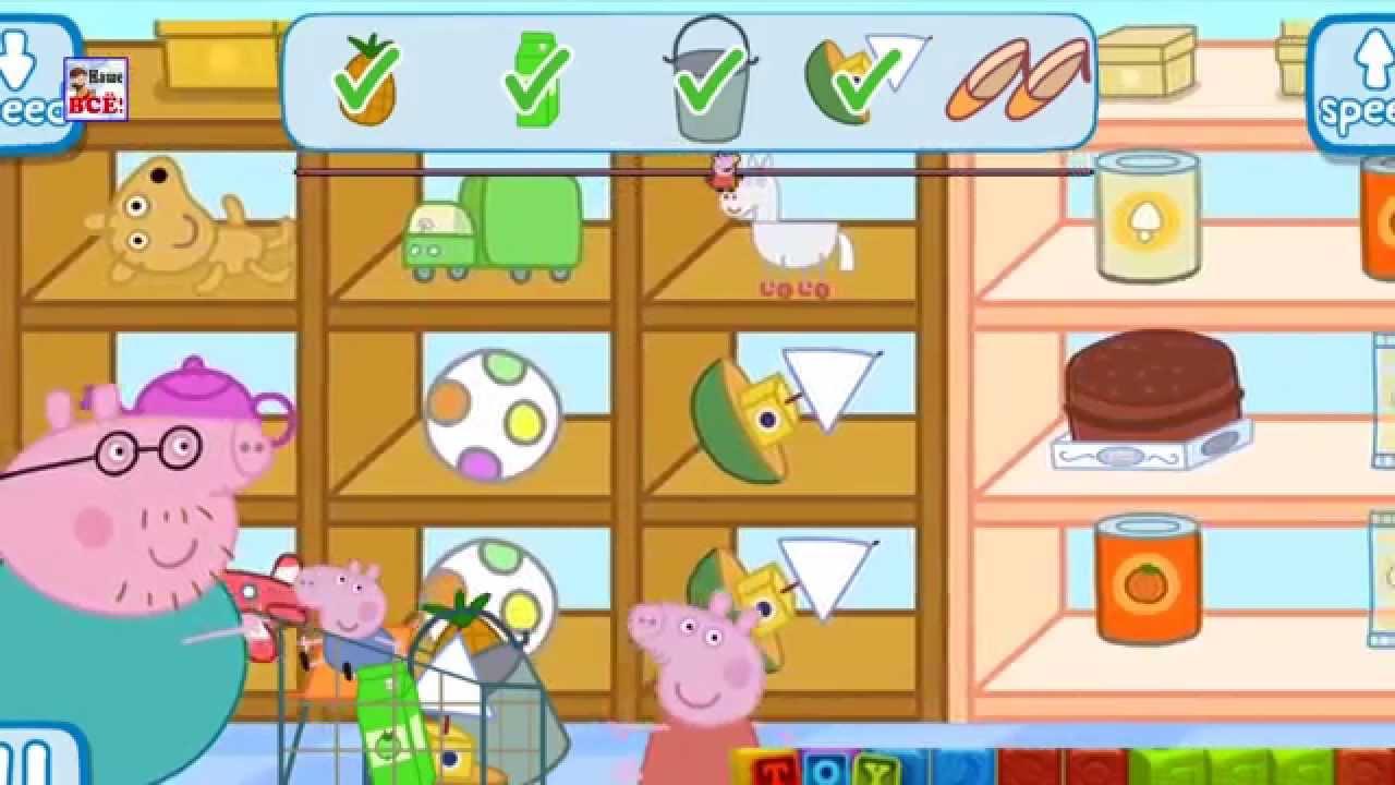 Учим английский с Пеппой — в магазине! Развивающий мультфильм по игре Peppa Pig shopping. Наше всё!