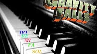 Cum sa canti melodia din Gravity Falls la Pian