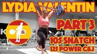 Lydia Valentin Part 3/5 (105kg Snatch 125kg Power Clean & Jerk) - 2017 WWC [4k 60]