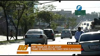 Cerrarán por 15 días la Avda. Aviadores del Chaco YouTube Videos