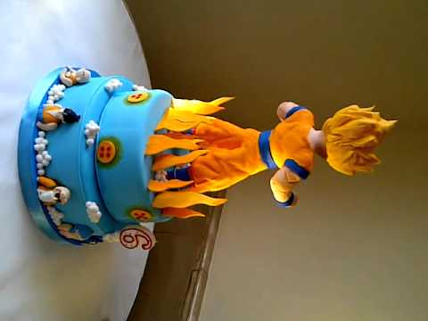 Dragon Ball Z Cake Decorating Kit : Dragon Ball Rotating Birthday Cakes - YouTube