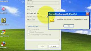 how to format removable disk f:.avi