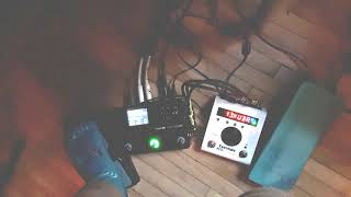 Electric ukulele jam. Some distorted tones with Line 6 Stomp and Eventide H9. Stay home and jam.