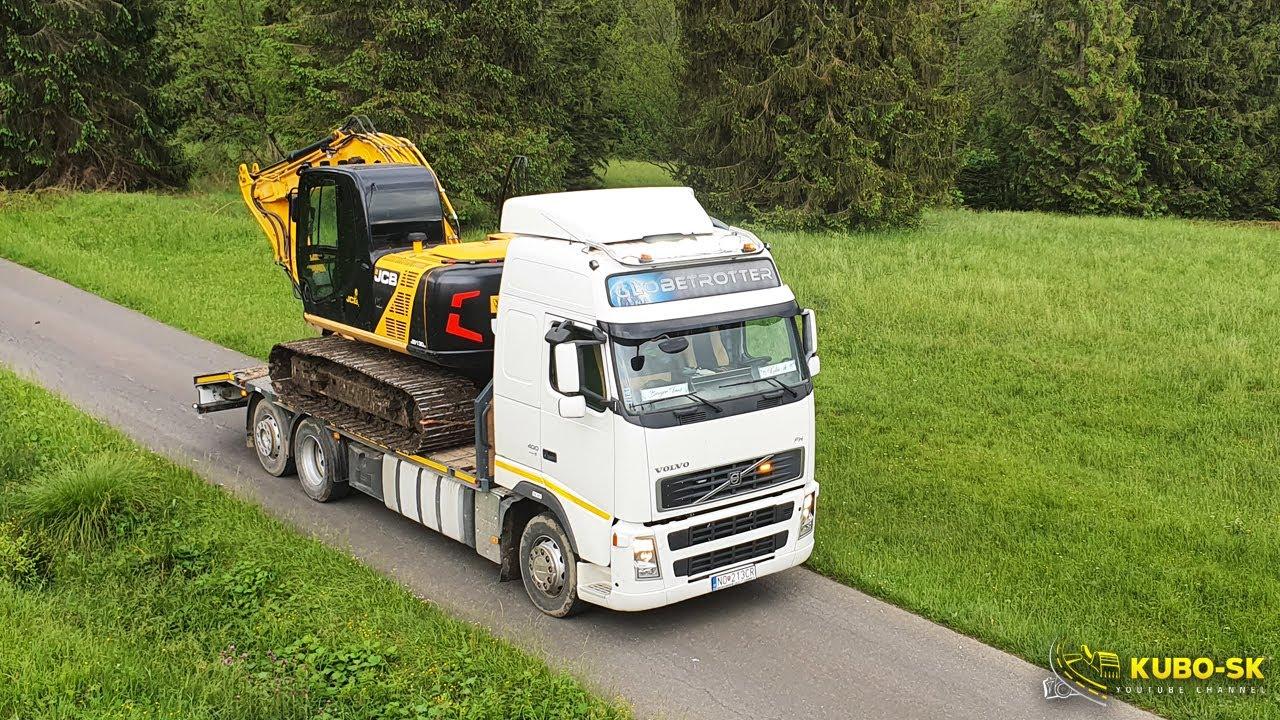 Preprava bagra z lesa | Baggertransport | Excavator transport | VOLVO FH400 6x2 truck