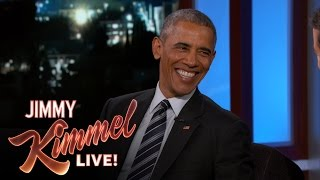Repeat youtube video President Obama Says First Lady Would Divorce Him if He Ran Again