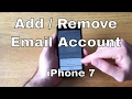 How to Add / Remove Email Accounts iPhone 7/7+