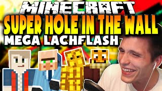 LACHEN IST GESUND ✪ Verrücktes Minispiel SUPER Hole in the WALL! *LACHFLASH*