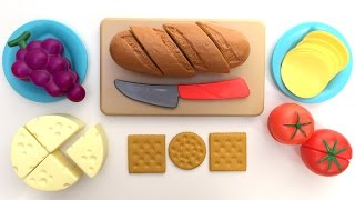 Just Like Home Bread and Cheese Set Toy Cutting Food Velcro Cooking Playset Kitchen Playset Toy Food