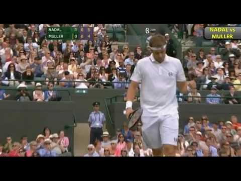 Rafael Nadal V Gilles Muller Wimbledon 2011 R3 Highlights