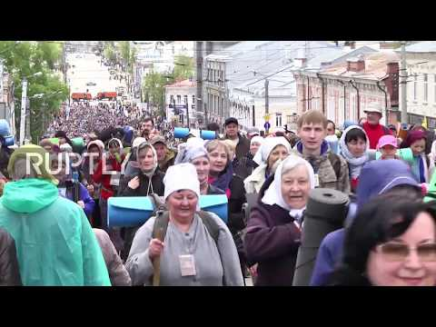 Russia: Pilgrims begin Velikoretsky Procession of the Cross in Kirov
