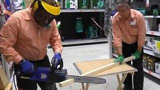 видео Правила безопасности при работе с цепной бензо- или электропилой