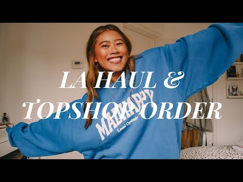 WHAT I BOUGHT IN LA & TOPSHOP ORDER