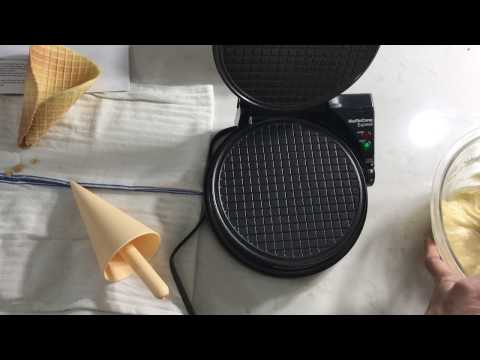 Making Waffle Cones With The Chef's Choice 838 Waffle Cone Express