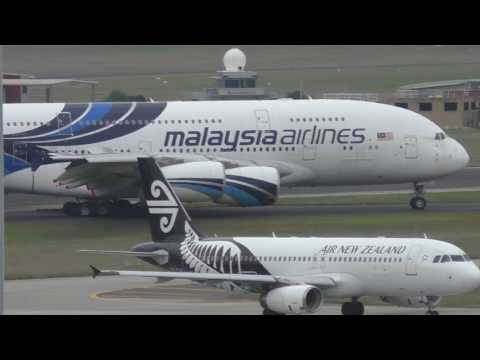 Malaysia Airlines A380-841 visits Melbourne April 2017