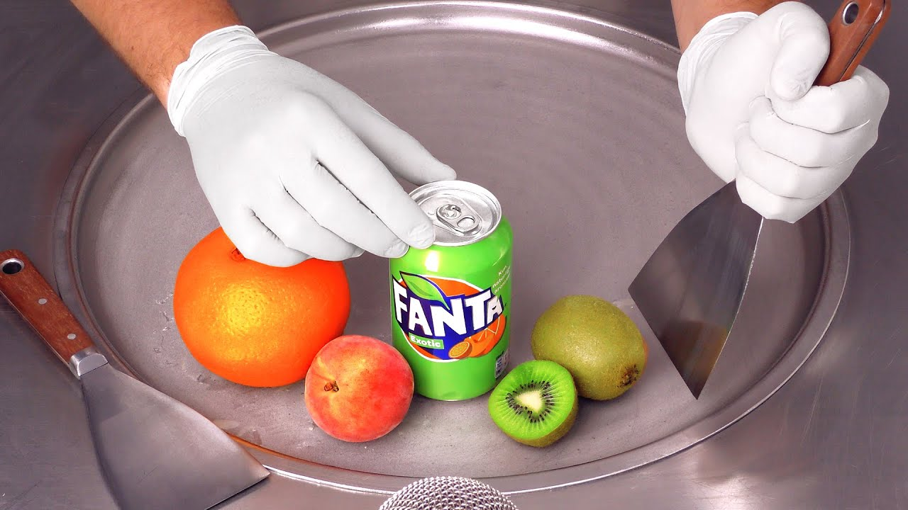 Exotic Fanta - Ice Cream Rolls | ASMR 먹방외길