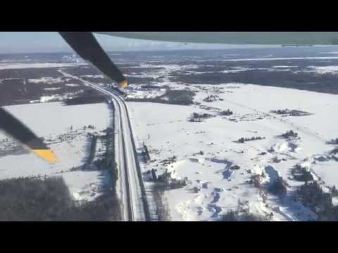 Landing In Sault Ste. Marie From Toronto Pearson, March 21, 2015