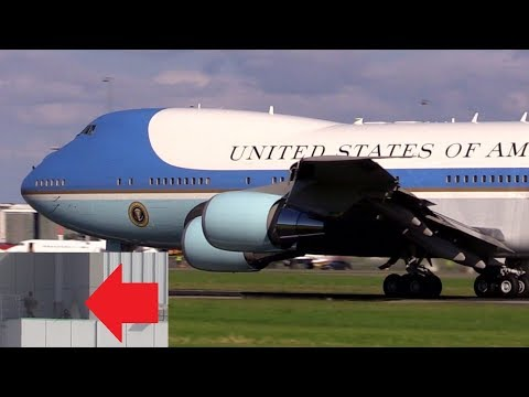 ᴴᴰ ✈ TRUMPs AF1 takeoff secured by SNIPERS @ Hamburg