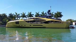 Palmer Johnson Gold Mega Yacht visits Miami Beach