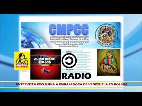 Entrevista a Embajadora de Venezuela  en Bolivia