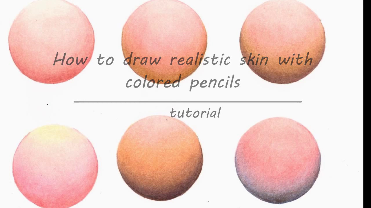 How to draw skin with colored pencils (Faber Castell Polychromos ...