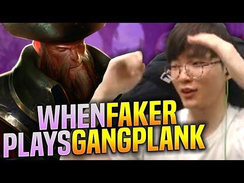 Faker Tries Gangplank Mid! - SKT T1 Faker Plays Gangplank vs Qiyana Mid! | S9 KR SoloQ Patch 9.17