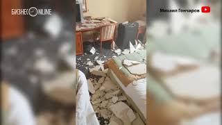«Нормально, выжил»: в номере казанского отеля на постояльца рухнул потолок