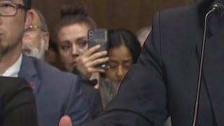 Police Warn Alyssa Milano to Stop Taking Videos at Brett Kavanaugh Hearing