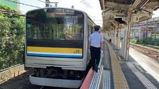 JR鶴見線浜川崎駅を入線.発車する列車。