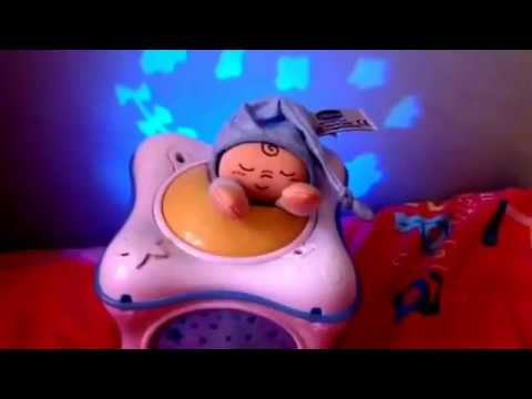 Adorable CHICCO Children's Musical Cot Toy Video with Projecting Lights & Music