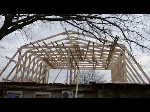 Обзор Мансардной крыши на одноэтажном доме. Как увеличивается площадь дома в два раза.