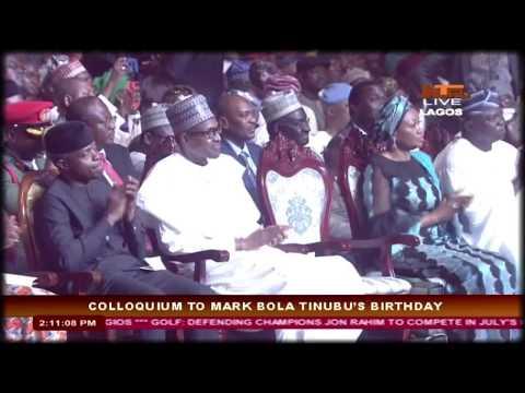 Asiwaju Bola Tinubu Speech at  The Colloquium in Lagos