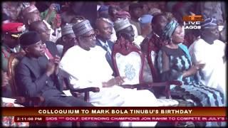 Download Video Asiwaju Bola Tinubu Speech at  The Colloquium in Lagos MP3 3GP MP4