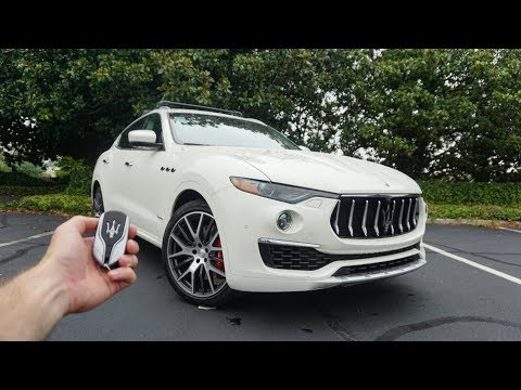 2019 Maserati Levante S GranLusso: Start Up, Test Drive, Walkaround and Review