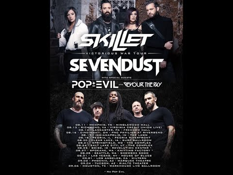 Sevendust and Skillet tour support from Pop Evil and Devour The Day!